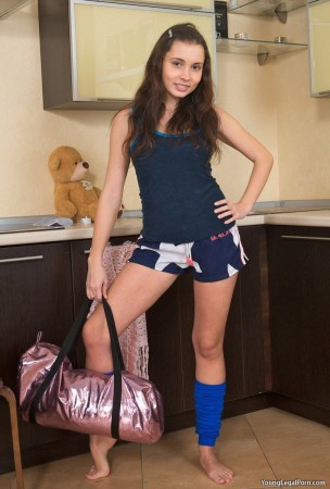 cute teen school girl posing